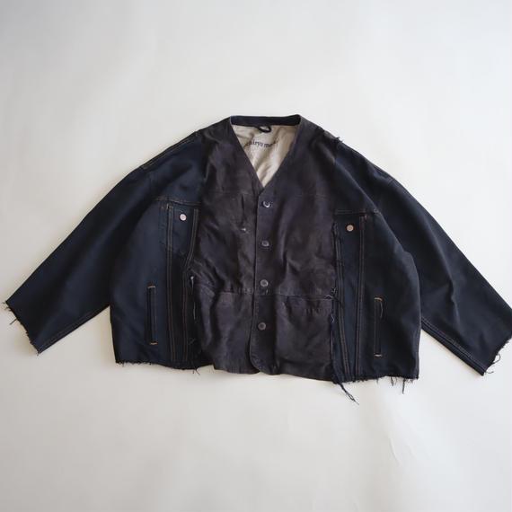【ICHIRYU MADE】SUEDE LEATHER × LEVI'S BLACK DENIM JACKET ⑦