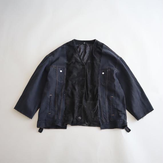 【ICHIRYU MADE】SUEDE LEATHER × LEVI'S BLACK DENIM JACKET ⑤