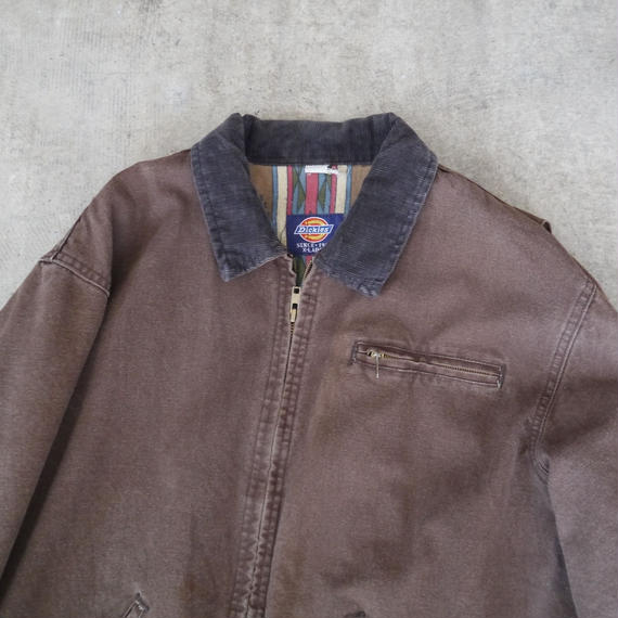 corduroy collar duck zipper jacket