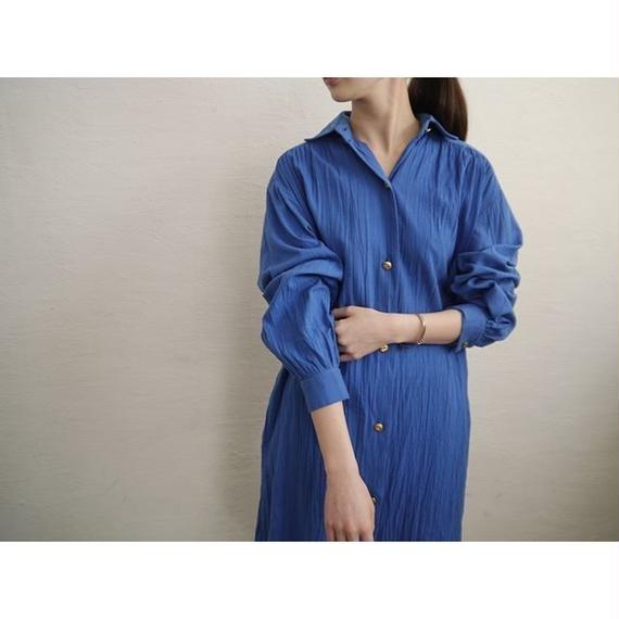 MADE IN USA GATHERED SHIRT DRESS