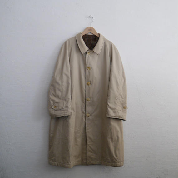 "80's BURBERRY ""REVERSIBLE""  BAL COLLAR COAT"