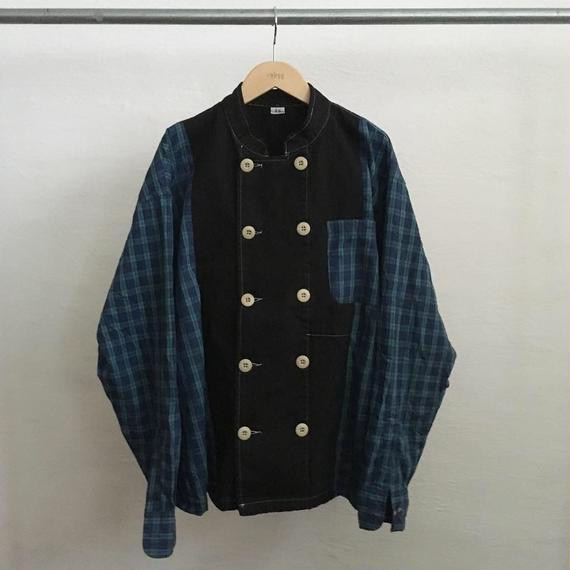 【ICHIRYU MADE】DOUBLE BREASTED PLAID COCK SHIRT JACKET