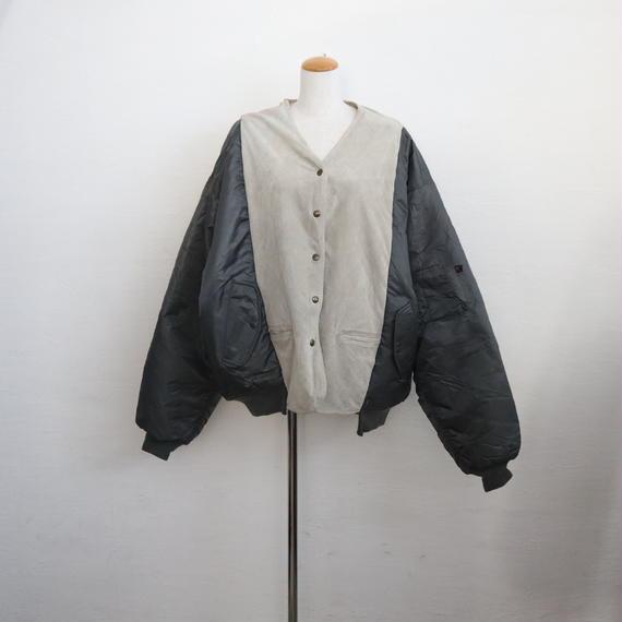 【ICHIRYU MADE】SUEDE LEATHER MA-1 JACKET ⑤