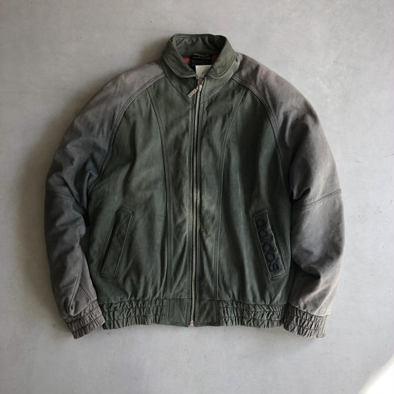 90s adidas Big Logo Leather Blouson