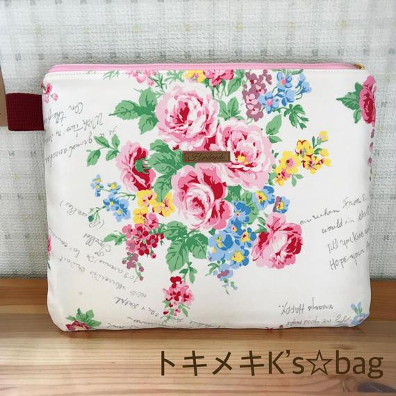 ピンク系ローズ柄☆iPadケース♪9.7&10.5インチ用★ハンドメイド