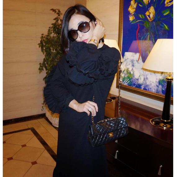 ◆体型カバー◆【楽でラグジュアリー】女王の平日ワンピース【高級感あり】