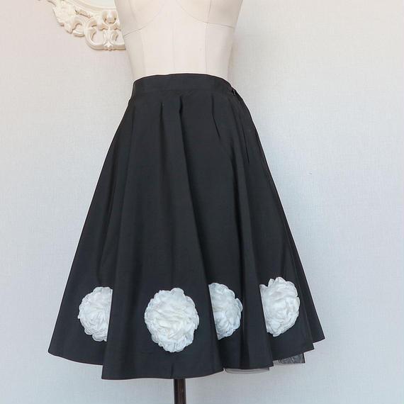 ★ウエストゴム★ローズインパクトスカート