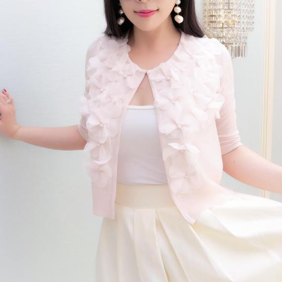 HANAレディサマーカーディガン【ピンク】