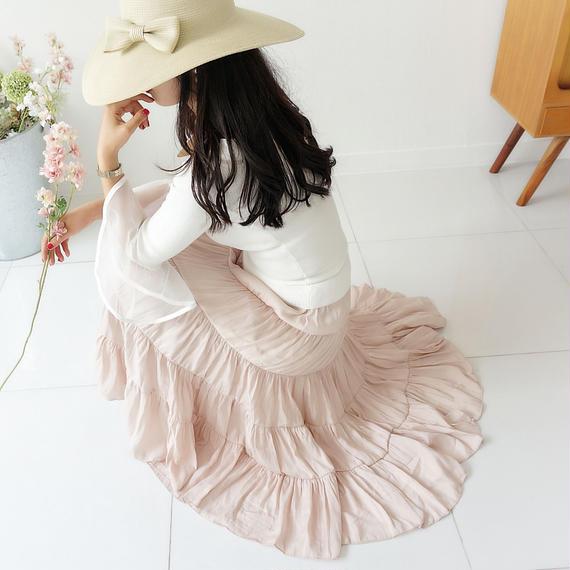 シルキータッチサマースカート【ベージュ】