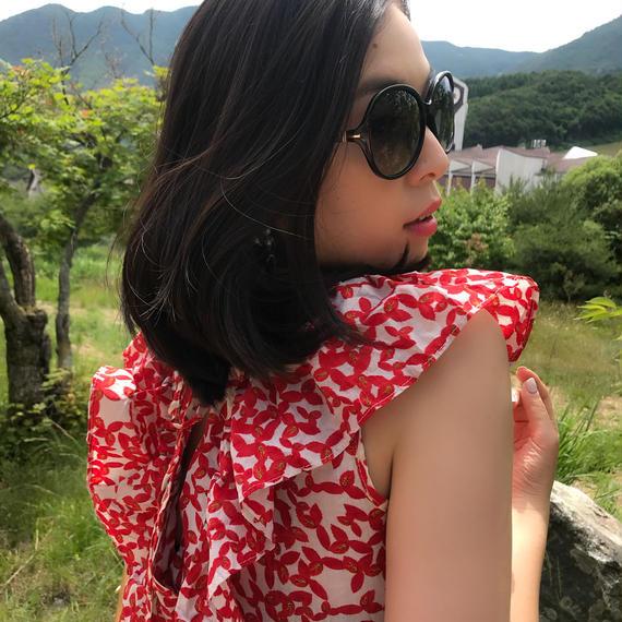 軽井沢レディワンピース【ウエストゴム】【避暑地に最適】