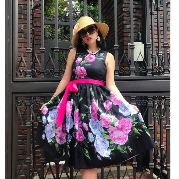 【ユヒャン大推薦】薔薇の夏物語ワンピース【主役アイテム】★結婚式やお社交に推薦★