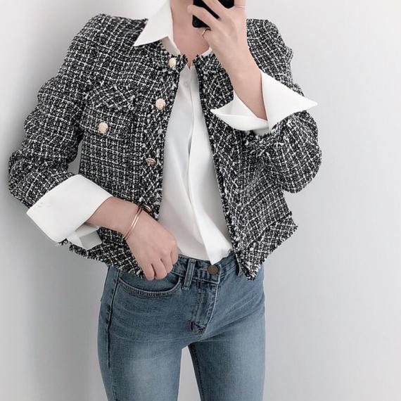 【9月30日迄限定価格】レディツイードジャケット
