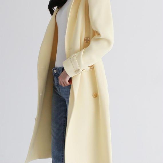 脱ぎたくない、コートでコーデを勝負したい!★163cmモデル着用★美人オーラ満載なスプリングコート【ユヒャンおすすめ】