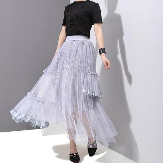 【ユヒャンオススメ】ドレススカートSEASON3【ウエストゴム/ボリューム感あり華やか】