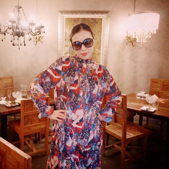 ★ゆったりサイズ★イタリア帰りのマダムが着てそうなゆったりワンピース