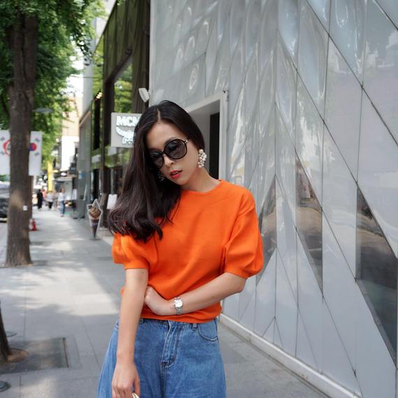 女王ニット【オレンジ】