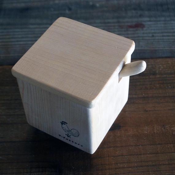 青森ひばの箱 調湿する、調味料入れ