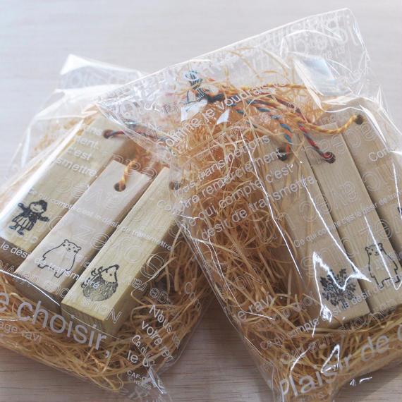 青森ヒバの防虫ecoブロック3個セット