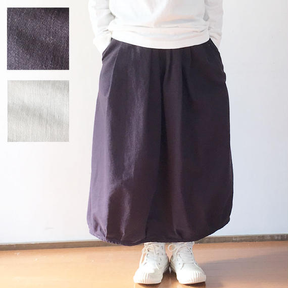 サイズ1完売*レディース*OMNIGOD★オムニゴッド★バックサテン ギャザースカート(57-0149S)