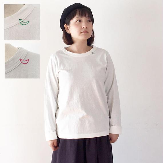 *レディース*grin★グリン★トリ刺繍Tシャツ(8181C-031)