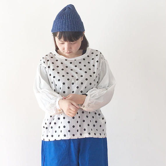 *レディース*NATURAL LAUNDRY★ナチュラルランドリー★パネルカフスTシャツ(7181-C019)