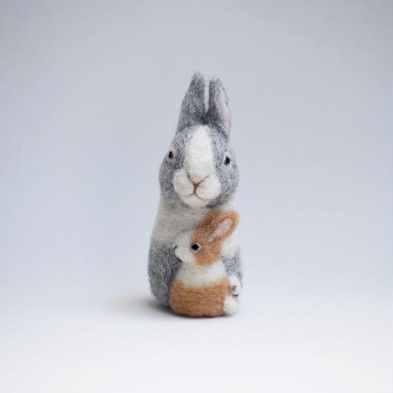 ウサギ親子 うちの子どう?シリーズ
