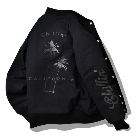 Chillin'  california  Blouson【Black】