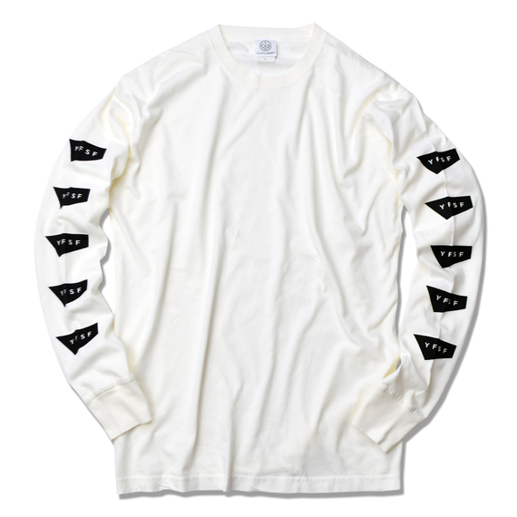 STANDARD LOGO Pigment Dyed Long Sleeve Tee【White】