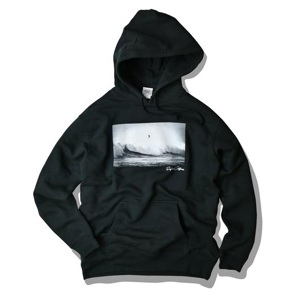 【予約商品】SURF IN CALIFORNIA Photo hooded sweatshirt【Black】