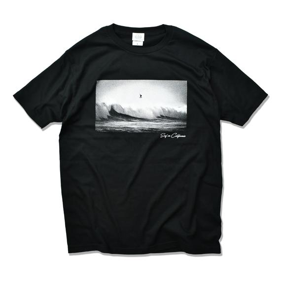 Surf in California Photo  Tee  【Black】