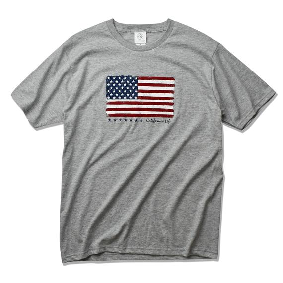 The American flag  Tee  【Gray】