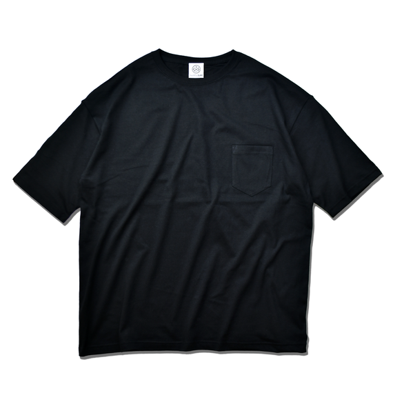 Big Silhouette Pocket Tee  【Black】