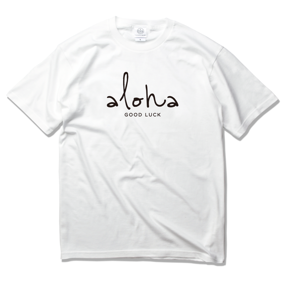 aloha good luck Tee 【White】