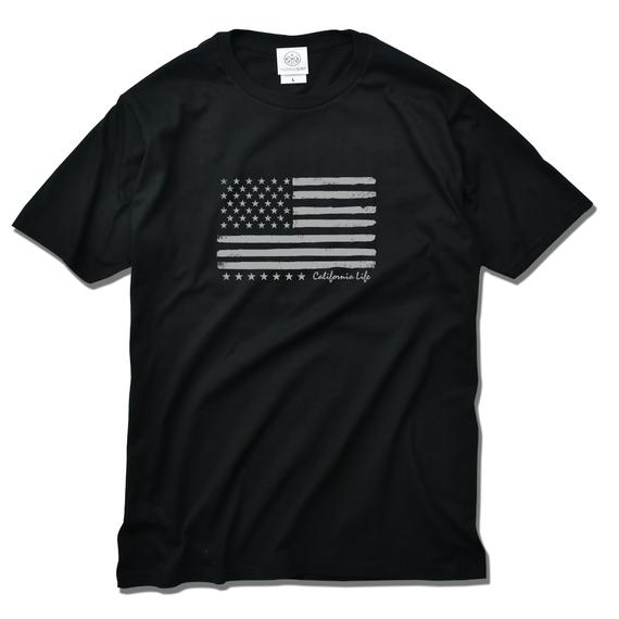 The American flag  Tee  【Black】