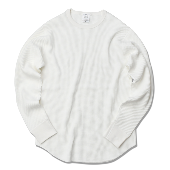 Thermal long sleeve Tee【White】