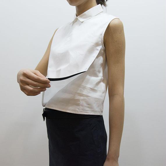 caart / Linear wrap shirt