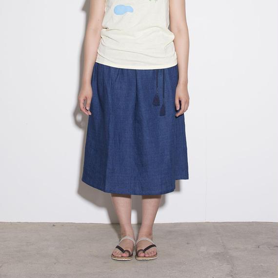 Slow Hands / linen skirt