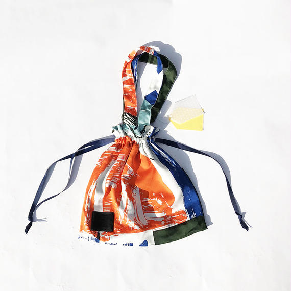 Hand print Drawstring bag 06(S)