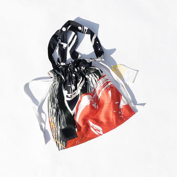 Hand print Drawstring bag01(S)