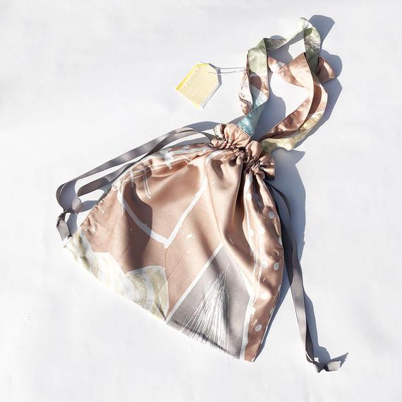 Hand print Drawstring bag 02(M)