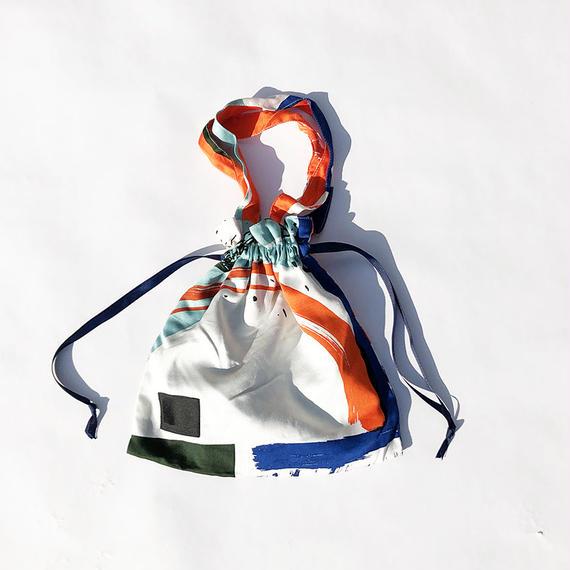 Hand print Drawstring bag 02(S)