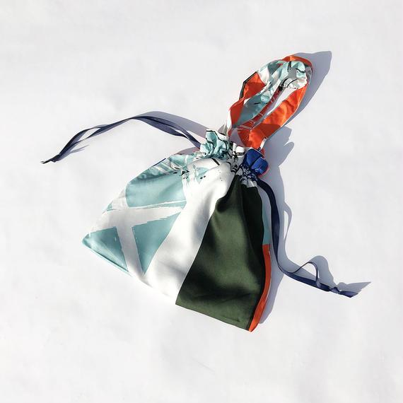 Hand print Drawstring bag 05(S)