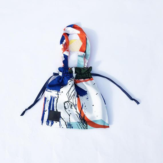 Hand print Drawstring bag 09(S)