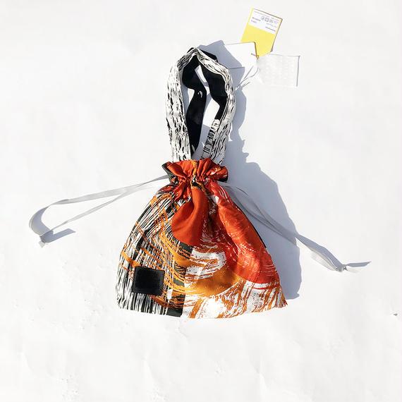 Hand print Drawstring bag 08(S)