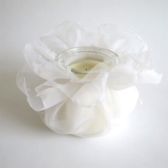 天然アロマキャンドル ー 雫 ー(ホワイト) 無香料
