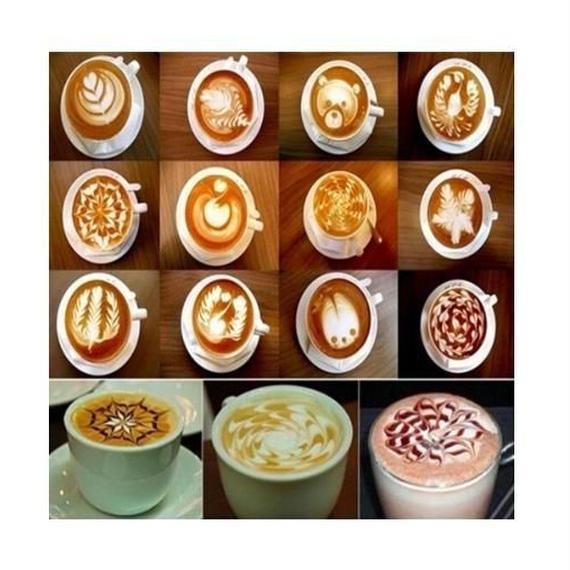 簡単ファンシーコーヒーツール 16種類 カプチーノ コーヒー ラテ ホットチョコレート