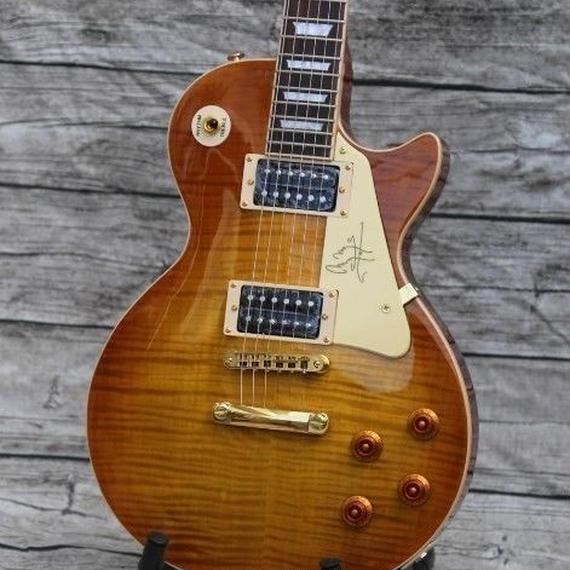 【送料無料】エレキギター レスポール LP 弦 ジミーペイジ好きに マホガニー ブラウン 39インチ