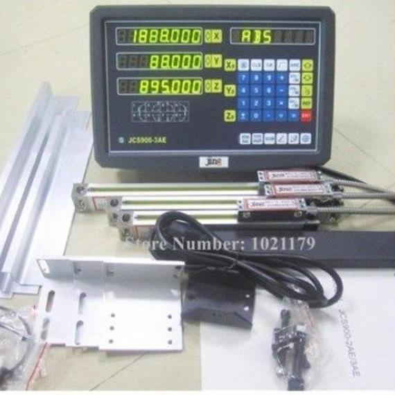 フライス 旋盤 ボーリング グラインダーマシン キット 3軸 デジタル リニアスケール 100~1000ミリメートル 5マイクロン