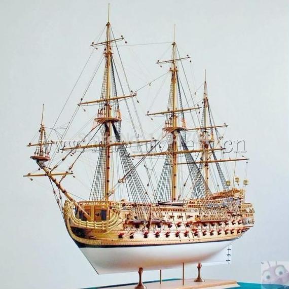 サンフェリペ 帆船 軍艦モデル 1/48スケール diyキット クラシック 木製 模型 組み立て式