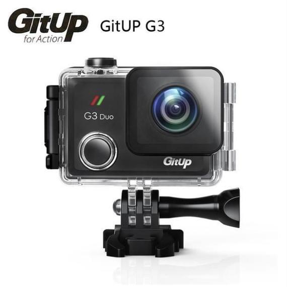 スポーツアクションカメラ【GITUP G3 DUO PRO PACKING】 2160p 128GB 2インチのタッチスクリーン 1200mAh 170°広角レンズ バッテリー容量